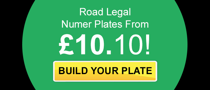 Replacement Number Plates for cars from just £10.10